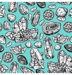 Stones crystal seamless pattern vector