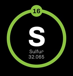 Sulfur chemical element vector