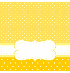 Sunny dots card or invitation on yellow vector image