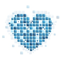 Tech abstract heart shape vector image