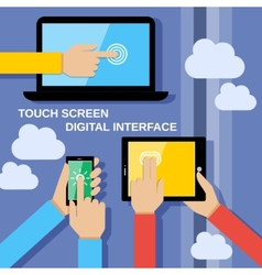 Touch screen gadgets vector image