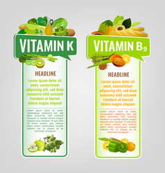 Vitamin banners set vector