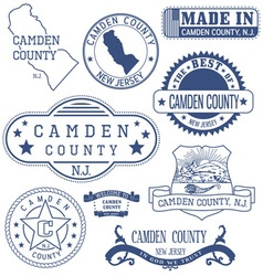 Camden county new jersey stamps and seals vector