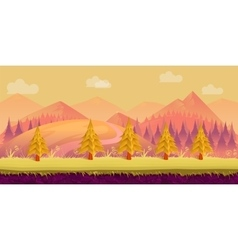 Seamless cartoon nature landscape layered ground vector