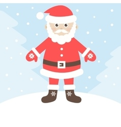 Santa claus in winter forest vector
