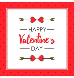 Cute valentines day card template vector