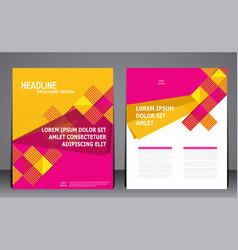 Abstract modern geometric flyer brochure template vector