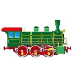 bright cartoon steam locomotive vector image