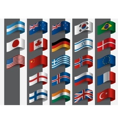 Collection of flags design vector