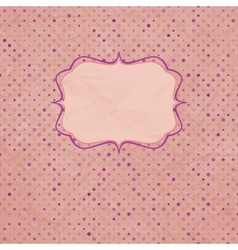 Vintage polka dot card and also includes eps 8 vector