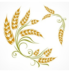 Stylized wheat pattern vector