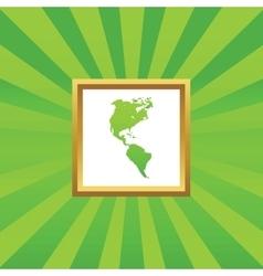America picture icon vector