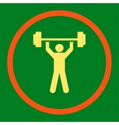 Power lifting icon vector
