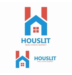 House and letter h logo template vector