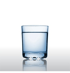 Pure mineral water in a glass vector