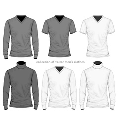 Collection of men clothes vector