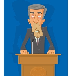 Politician on the podium vector