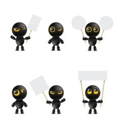 Set of cartoon characters emoticon vector