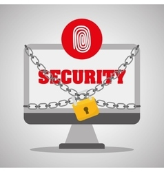 Security system design warning and technology vector