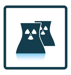 Nuclear station icon vector
