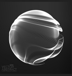 Abstract monochrome mesh sphere on vector