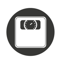 balance scale isolated icon vector image vector image