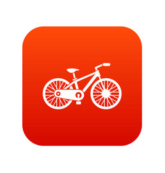 bicycle icon digital red vector image vector image