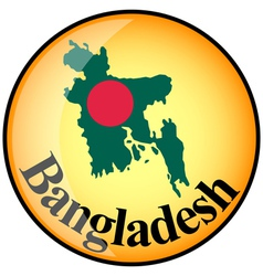 button Bangladesh vector image