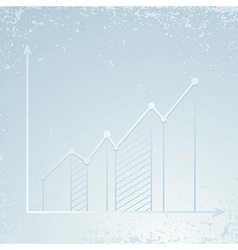 Chart showing growth - infographics template vector