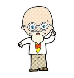 Comic cartoon professor vector