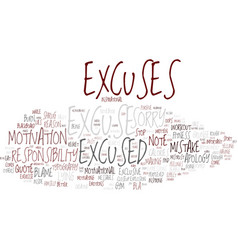 Excused word cloud concept vector