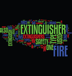fire safety and rv text background word cloud vector image vector image