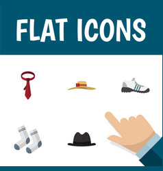 Flat icon clothes set of elegant headgear vector