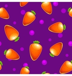 Funny bright seamless pattern with carrots vector image