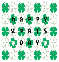 Happy st pats day vector