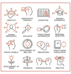 Human resource management icons - 1 vector image