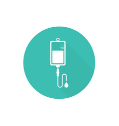 iv bag icon vector image