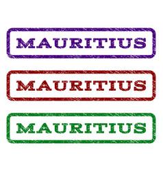 Mauritius watermark stamp vector