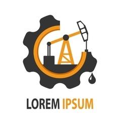 Oil company logo vector image vector image