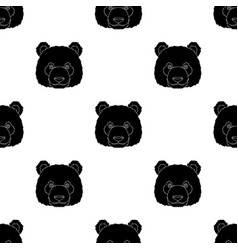 Panda icon in black style isolated on white vector