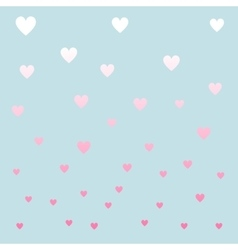 Pastel color hearths pattern vector image