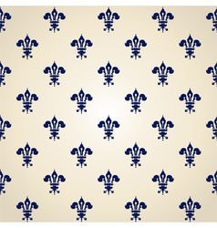 pattern of heraldic lilies vector image