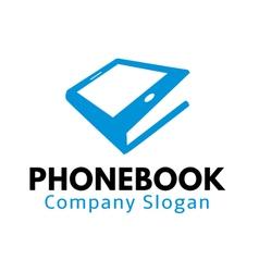Phone book design vector
