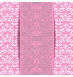 pink invitation vector image vector image