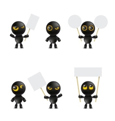Set of cartoon characters emoticon vector image