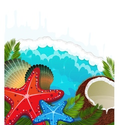 Tropical sea background vector image vector image