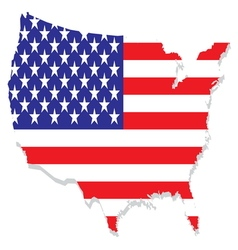 USA map resize vector image
