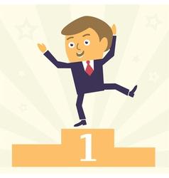 winner businessman vector image