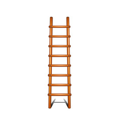 wooden ladder with shadow leading up vector image vector image