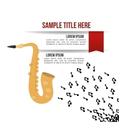Saxophone music sound infographic vector